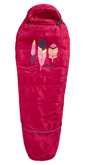 Jack Wolfskin Grow Up Kids Sleeping Bag azalea red